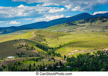 Hills outside of Missoula, seen from Mount Sentinel, in...