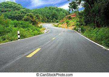 hills., route enroulement