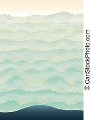 hills., verde, vertical, plano de fondo