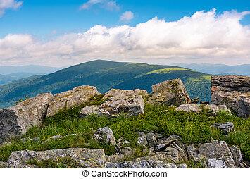 hillside of Runa mountain in summer. beautiful landscape...