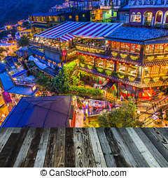 Hillside teahouses of Juifen, Taiwan