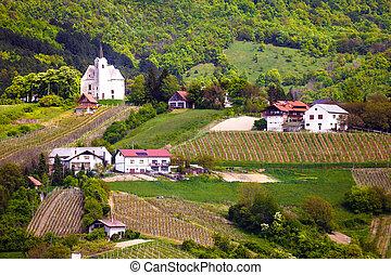 Hillside village of Zumberak agricultural region