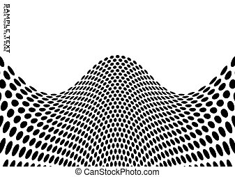 Abstract background with black and white dots and copy space