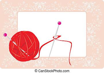hilos, pelota, tejido de punto