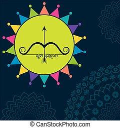 hils, eller, festival, dussehra, shubh, illustration, glade