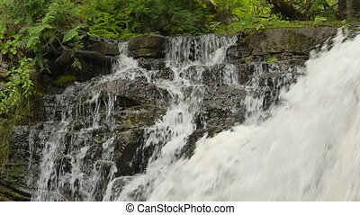Closeup of top of Hilton Falls waterfall, near Milton, Ontario, Canada. Other views available. 00179
