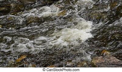 hilton, rivière, closeup, chutes