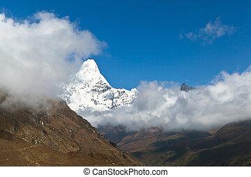 himalaias, paisagem, monte, ama, dablam