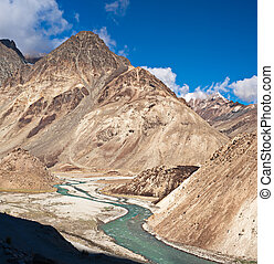 himalaya, alto, paesaggio montagna