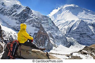 himalaya, góry, hiking