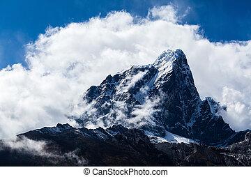 himalaya, montanhas, paisagem, nepal