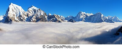 himalaya, nepal, solukhumbu, khumbu, valle, montagne