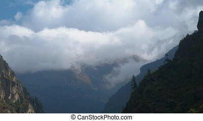 himalaya, nuages