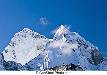 himalaya, paisaje, monte, ama, dablam