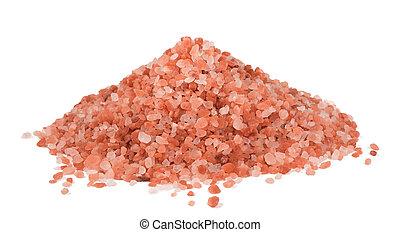Himalaya Pink Salt isolated on white background