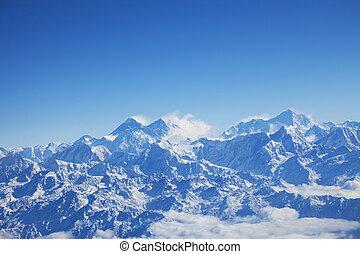 Himalayas and Mount Everest, Nepal - Image of the Himalayas...