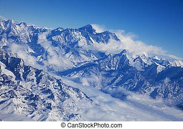 Himalayas and Mount Everest, Nepal - Image of the Himalayas ...