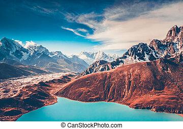 Himalayas. View from Gokyo Ri