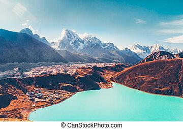 himalayas., visión desde gokyo, ri