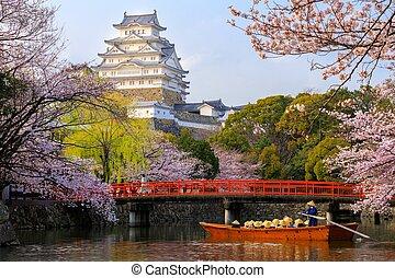 Himeji castle at spring