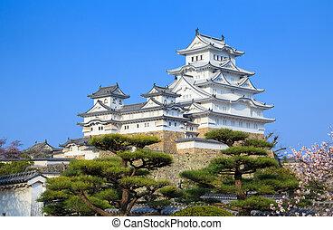 Himeji Castle, Hyogo, Japan - Himeji Castle in spring cherry...