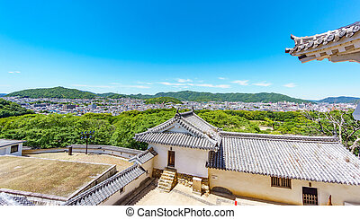 Himeji city from the castle
