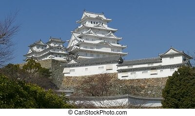 Himeji, Japan - March 28, 2015: himeji castle during cherry...