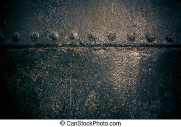 himlőhelyes, fém, öreg, felszín, struktúra