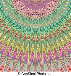 himmel, bunte, segen, -, design, fractal