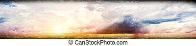 himmel, colorful solopgang