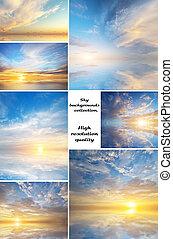 himmel, samling, baggrund