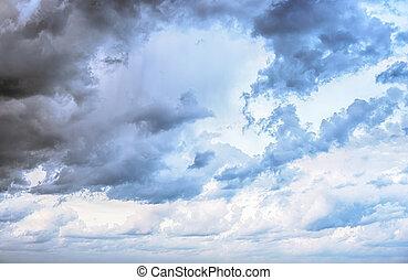 himmel, skyer, kunst, solopgang, baggrund