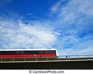 himmel, tog, singapore