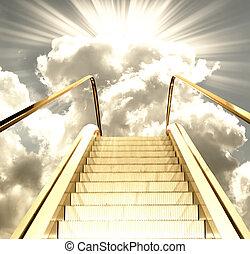 himmel, väg