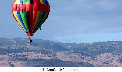 himmelsgewölbe, balloon, luft, heiß