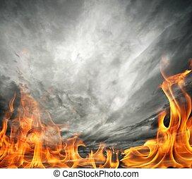 himmelsgewölbe, brennender