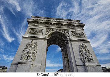 himmelsgewölbe, farben, aus, triumph, bogen, in, paris