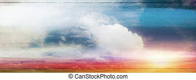 himmelsgewölbe, farbenfreudiger sonnenaufgang