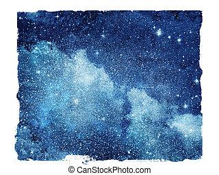 himmelsgewölbe, freigestellt, sternen, hintergrund, nacht