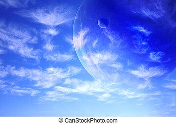 himmelsgewölbe, in, ausländer, planet
