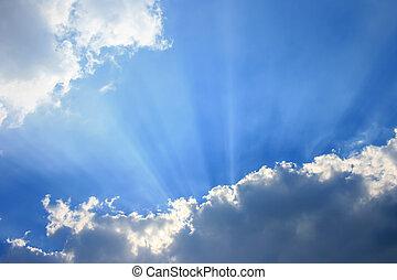 himmelsgewölbe, mit, sunray