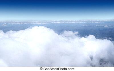 himmelsgewölbe, motorflugzeug, -, kugel, sammlung