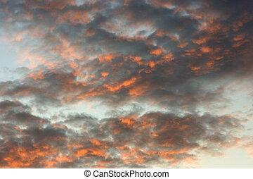 himmelsgewölbe, orange