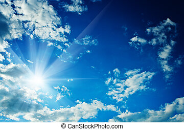 himmelsgewölbe, rahmen, wolkenhimmel, sonne