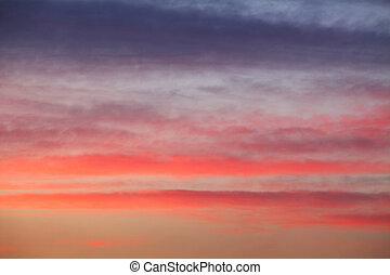 himmelsgewölbe, sonnenuntergang, hintergrund