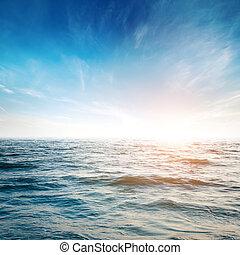 himmelsgewölbe, und, tropische , wasserlandschaft, hintergrund