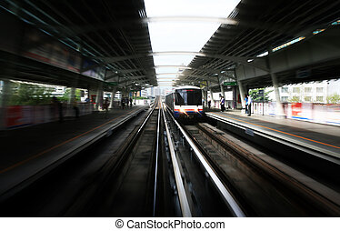 himmelsgewölbe, zug, in, bangkok