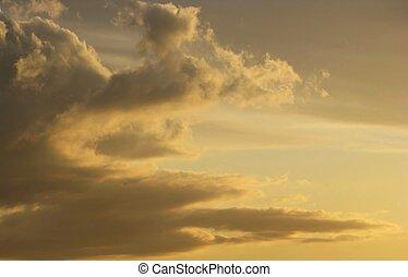 himmelsk, skyn