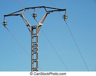 himmelsturm, kabel, hochspannung, hintergrund