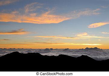 himmlisch, wolkenhimmel, in, der, himmelsgewölbe
